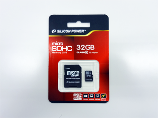 SiliconPower MicroSDHC 32GB Class4 SP032GBSTH004V10-SP